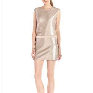 Size 4 gold sequin dress -Halston Heritage